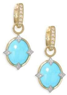 Jude Frances Small 18K Gold& Diamond Moroccan Turquoise Drop Earring Charms