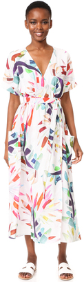 Mara Hoffman Maxi Wrap Dress $425 thestylecure.com