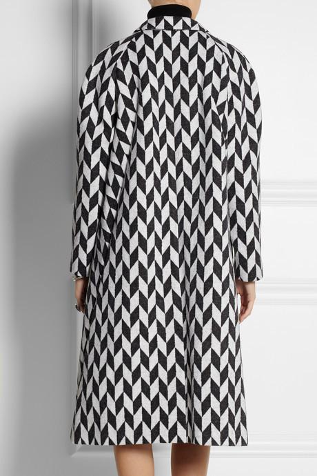 Vika Gazinskaya Oversized jacquard coat
