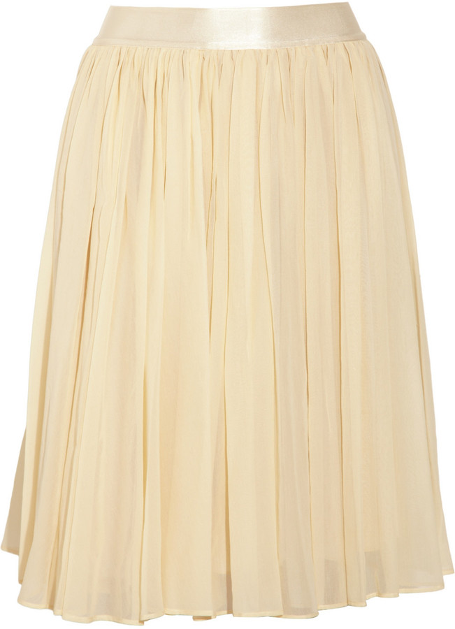 See by Chloe Cotton and silk-blend georgette skirt