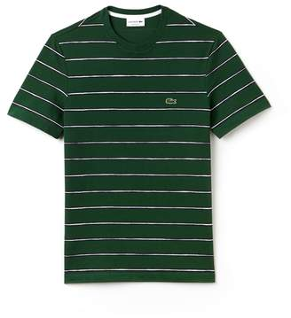Lacoste Men's Striped Print Mini Pique T-Shirt