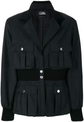 Karl Lagerfeld ribbed waist blazer