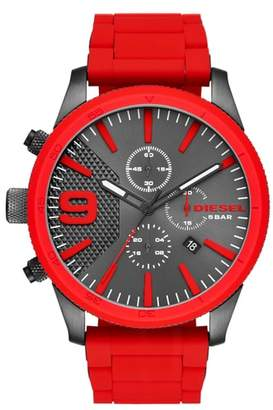 Diesel R) Rasp Chronograph Silicone Strap Watch, 50mm