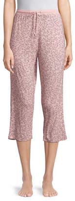 DKNY Cropped Printed Jogger Pants