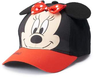 Disney Disney's Minnie Mouse Toddler Girl 3D Bow & Ears Baseball Cap Hat