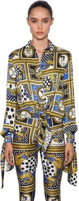 Versace Archive Printed Satin Shirt