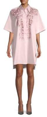 Dries Van Noten Embroidered Cotton Shirtdress