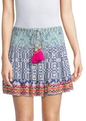 Hemant & Nandita Aztec Print Pom Pom Mini Skirt