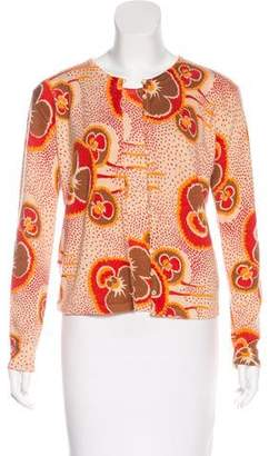 John Galliano Printed Cashmere Cardigan Set