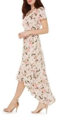 Dorothy Perkins Floral Wrap Hi-Lo Maxi Dress