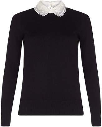 at House of Fraser Yumi Jewelled Cut-Out Collar Jumper