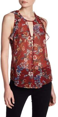 Willow & Clay Floral Printed Ruffle Tank