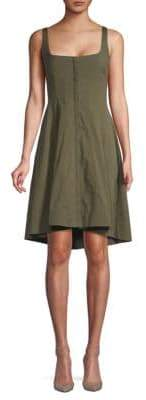 Theory Stretch Cotton Fit-&-Flare Dress