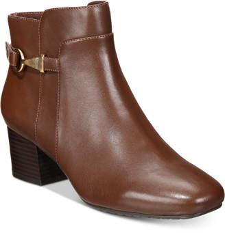 Bandolino Faruka Block Heel Zip Booties Women's Shoes