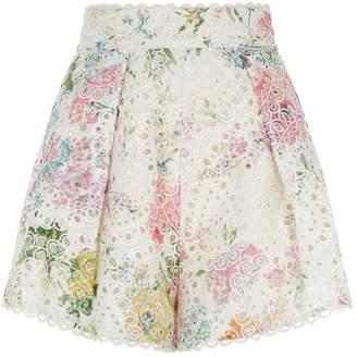 Zimmermann Heathers High-Waist Shorts