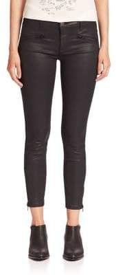 Current/Elliott The Coated Soho Zip Stiletto Skinny Jeans