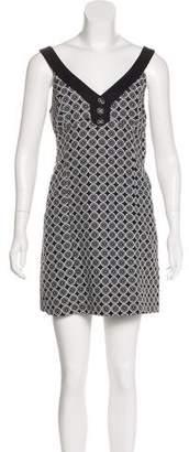 Tibi Abstract Printed Mini Dress