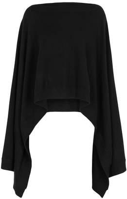 Le Kasha Vienne Black Cashmere Cape