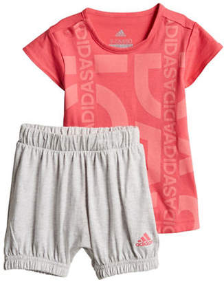adidas Graphic Tee and Shorts Cotton Set