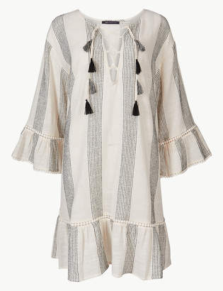 Marks and Spencer Pure Cotton Striped Beach Kaftan