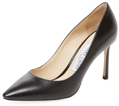 Jimmy Choo Romy 85mm Leather Pointed-Toe Pump