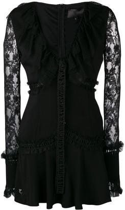 Philipp Plein lace panelled mini dress