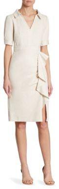 Nanette Lepore Sunny Cotton Blend Day Dress $398 thestylecure.com