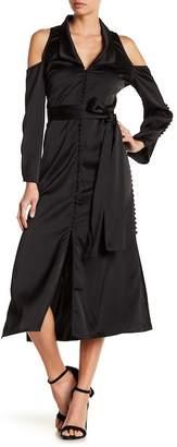 Lumier Button Down Maxi Dress
