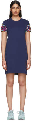 Kenzo Navy Limited Edition Multicolor Logo Dress