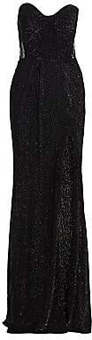 Gustavo Cadile Women's Corsetted Sheer Panel Sequin Column Dress
