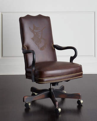 At Horchow Old Hickory Tannery Clint Leather Office Chair