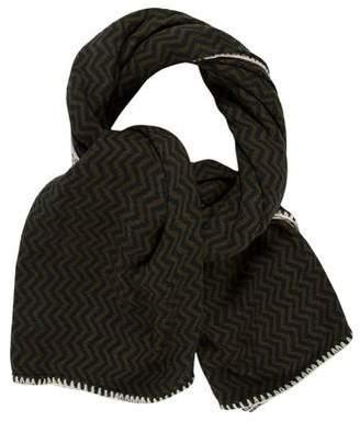 Golden Goose Chevron Knit Scarf