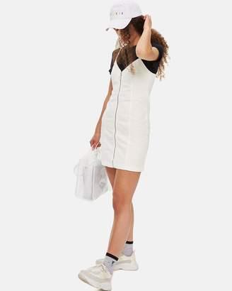 Topshop Zip-Through Denim Body-Con Dress