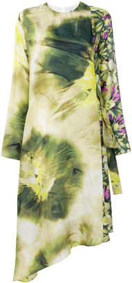 MSGM floral print wrap-around dress