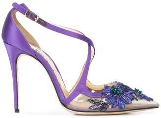 Marchesa Daphne floral pumps