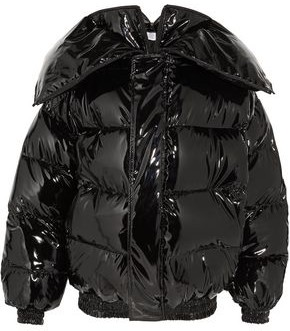 Quilted Coated Down Jacket