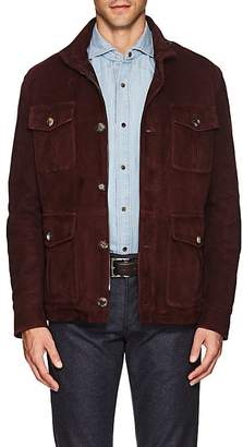 Isaia Men's Water-Repellent Suede Field Jacket