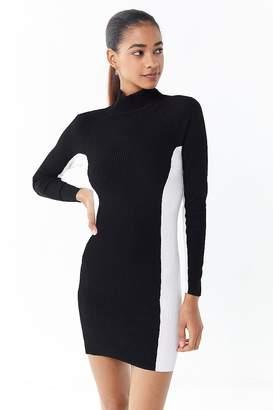 Urban Outfitters Luna Colorblock Turtleneck Mini Dress