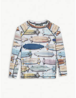 Molo Neptune board print rash guard 3-4 years