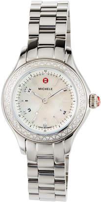 Michele 32mm Jetway Mini Diamond Bracelet Watch