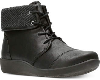 Clarks Collection Women Cloudsteppers Sillian Frey Booties Women Shoes