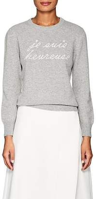 "Lisa Perry Women's ""Je Suis Heureuse"" Cashmere Sweater"