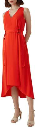 Karen Millen Belt Detail High/Low Midi Dress
