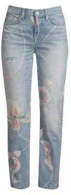 Hudson Jeans Zoeey In Bloom Distressed Jeans
