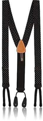 Trafalgar Men's Formal Concord Polka Dot Silk Suspenders - Black