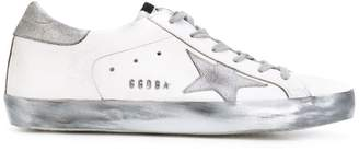 Golden Goose White Silver Sole Superstar sneakers