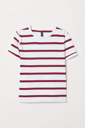 H&M Short Jersey Top - Red