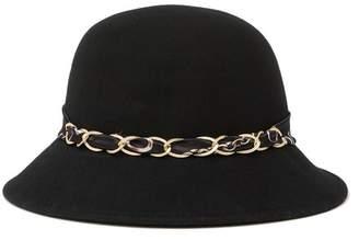 Cloche August Hat Felt with Status Chain