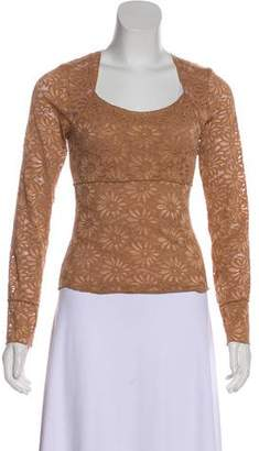 Nicole Miller Long Sleeve Lace Top