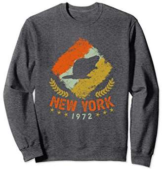 New York Retro Beaver Sweatshirt 1972 Birth Year